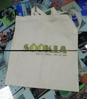 Riidest kott logoga - Söökla