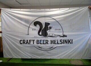 Logoga reklaambänner - Craft beer Helsinki