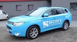 Reklaamkleebised sõidukil - Sony Channel