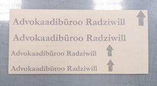 Tekstikleebised - Advokaadibüroo Radziwill