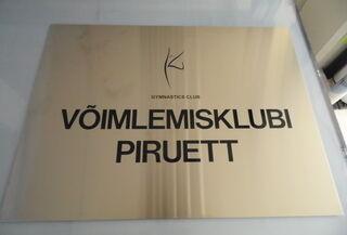 Fassaadisilt logoga - Võimlemisklubi Piruett