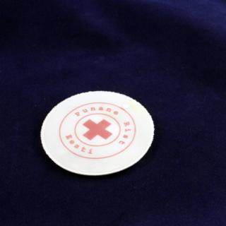 Logoga helkur - punane Rist