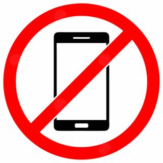 Hoiatussilt - Nutitelefoni keeld
