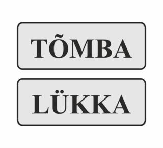 Uksekleebised Tõmba/Lükka