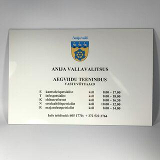Anija Vallavalitsus fassaadisilt