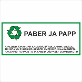 Infokleebis - Paber ja Papp