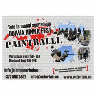 Reklaamsilt - Paintball