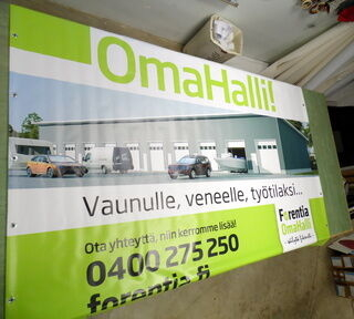 Omahalli PVC bänner