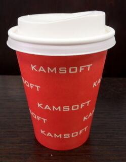 Juomamuki logolla Kamsoft