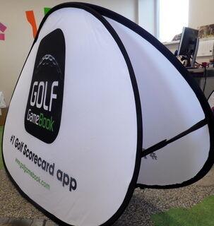 Kaksipuolinen Soft banneri Golf GameBook