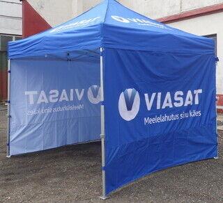 3x3 Pop up telk  Viasat kahepoolse digitrükiga