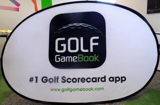 Ovaalne softbänner Golf Game Book