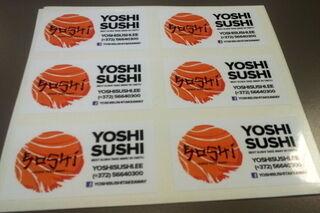 Reklaamkleebis Yoshi Sushi