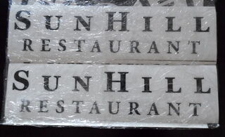 Logokleebised Sun Hill Restaurant