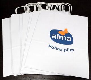 Paberkotid logoga Alma