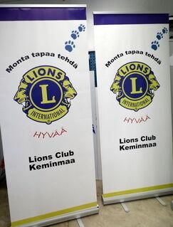 Klassinen Roll-Up Lions Club Keminmaa