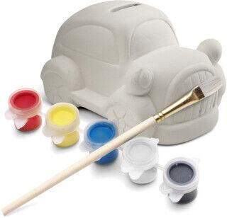 Plaster car piggy bank