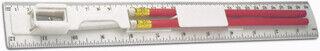 30cm joonlaud kahe pliiatsiga, teritaja, kustutaja