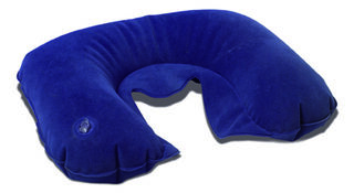 Inflatable travel cushion