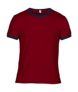 Adult Fashion Basic Ringer Tee 9. pilt
