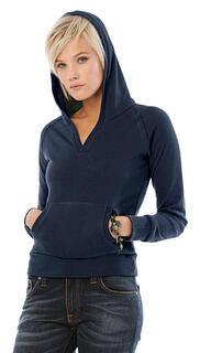 Ladies Hooded V-Neck
