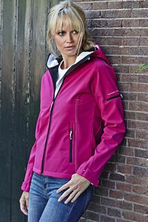 Ladies Hooded Fashion Softshell Jacket 5. pilt