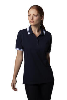 Womens Tipped Collar Polo