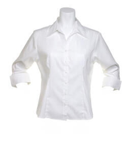 Oxford Bluse mit 3/4 Arm.