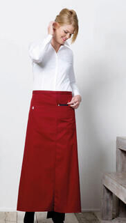 Long Bistro Apron with Vent and Pocket