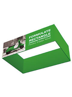 Square Hanging Structure Fabric Display 1067x2438x2438mm