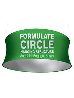 Circle Hanging Strucure Fabric Display 610x3048mm